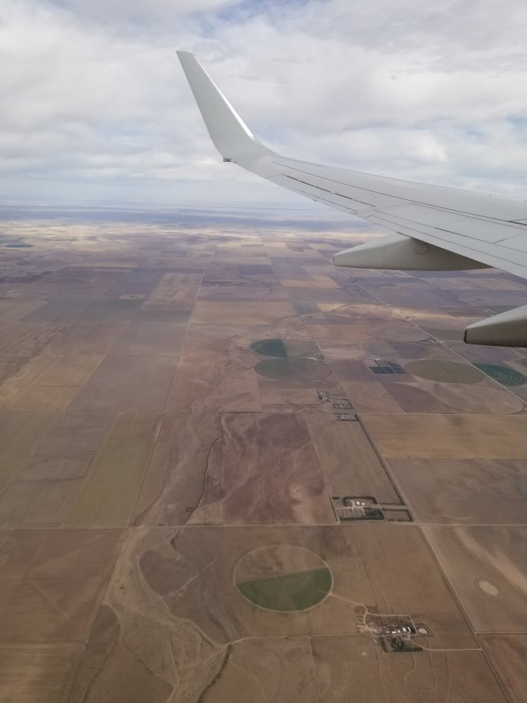 Colorado fields from the air.